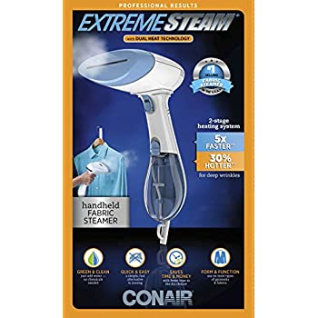 Conair ExtremeSteam Hand Held Fabric Steamer with Dual Heat; White