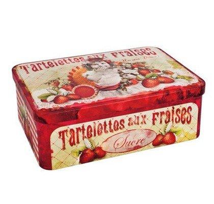 """Boite à sucre """"Tartelettes aux fraises"""" - Orval Création"""