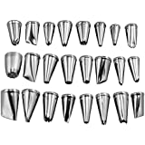 niceeshop(TM) 24pcs Stainless Steel Cupcake Cake Puff Decorating Icing Nozzles Piping Sugarcraft Pastry Tips Tool Set