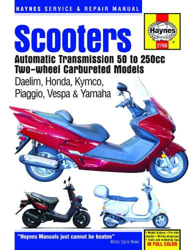 Scooters Automatic Transmission 50 To 250Cc Two-Wheel Carbureted Models (Haynes Service & Repair Manual) front-574733