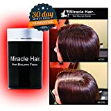 MIRACLE HAIR 75 Day Supply: Premium Hair Fibers For Thinning Hair - Thicker, Fuller Looking Hair In 60 Seconds! 30 Day Money Back Guarantee (BLACK)