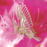 Small butterfly / quadruple wooden simulation model / stereo jigsaw puzzle DIY toys assembled model toy