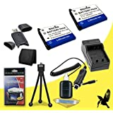 Two Halcyon 1200 mAH Lithium Ion Replacement NP-45A Battery and Charger Kit + Memory Card Wallet + SDHC Card USB Reader + Deluxe Starter Kit for Fujifilm Finepix JX390, JX400, JX405, JX420, JX440, JX500, JX520, JX530, JX550, JX580, JX590, JX700, JX710, JZ100, JZ110, JZ200, JZ250, JZ260, JZ300, JZ305, JZ310, JZ500, JZ505, JZ510, T190, T200, T205, T300, T305, T310, T350, T360, T400, XP10, XP15, Z31, Z33fd, Z33WP, Z35fd, Z37, Z70, Z71, Z110, Z115, Z300, Digital Cameras and Fujifilm NP-45A