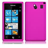 CNL PINK SILICONE SKIN CASE FOR THE SAMSUNG I8700 OMNIA 7
