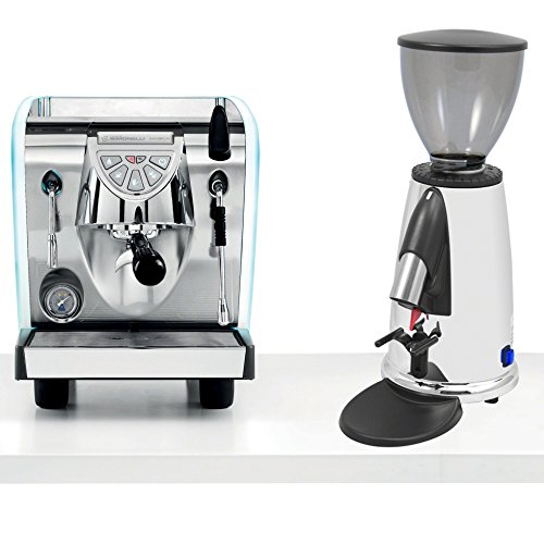 Simonelli Musica Programmable Espresso Machine LED LUX Tank Espresso Coffe Machine & Macap M2DC83 Programmable Chrome Doserless Grinder & Starter Kit Combo