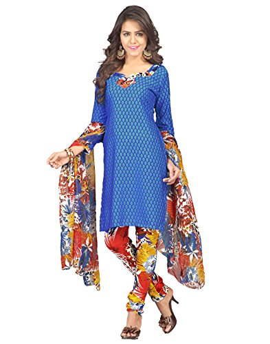 Yehii salwar suits for women stitched party wear Blue Micro Crepe