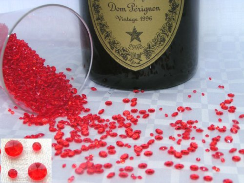 4000 Ruby Red (6) Crystal Diamond Scatter Table