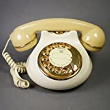 ☕  Vintage 1980s Ceramic Dial Telephone with Gold Plating