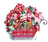 A BIG Sleigh Load of Surprises Christmas Holiday Gourmet Food Gift Basket - Candy, Cookies & Chocolate & More
