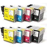 Multipack - 20 Premium Qualité XL Compatible Cartouches d'encre pour Brother LC985 LC39 (8 noir + 4 cyan + 4 magenta + 4 jaune) LC985BK LC985Y LC985C LC985M LC39BK LC39Y LC39C LC39M pour imprimantes Brother DCP-J125 - Brother DCP-J315W - Brother DCP-J515W - Brother MFC-J265W - Brother MFC-J410 - Brother MFC-J415W - Brother MFC-J220 - 100% Quality - SilverTrade GmbH (Silvertrade ©)