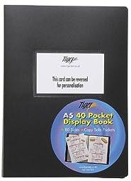 Tiger A5 40 pocket flexible cover presentation display book - FlexCover