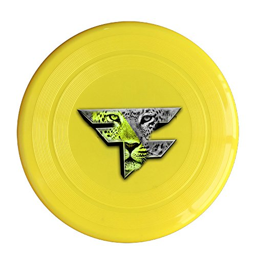 Discovery Wild Faze Clan Team Logo Tiger Plastic Flying Sport Discs - Frisbee Like Toy For Outdoor Game Play - Sports For All Ages - Party Fun - Yellow