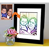 Fathers Day Gift | Birthday Gift For Him | Photo Frame(11x9)inch With Personalized Photo(7x5)inch By Tied Ribbons