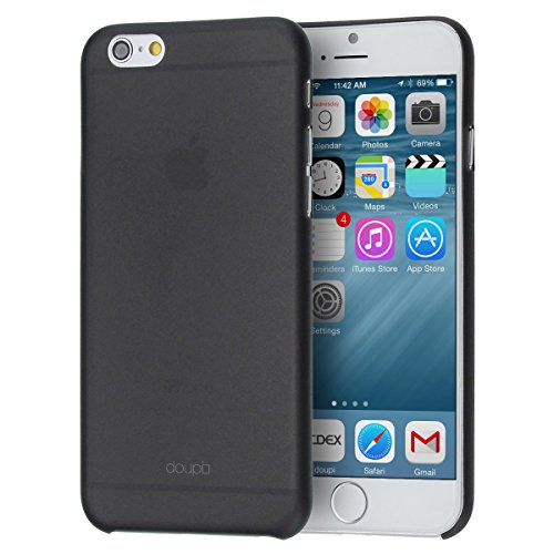 doupi-UltraSlim-Case-per-Apple-iPhone-6s-Plus-iPhone-6-Plus-55-55-pollici-satinato-fine-piuma-facile-Mat-semi-transparente-Copertura-Tacsa-Custodia-Caso-Cover-Nero