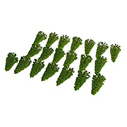 Generic Pack 20pcs Model Trees Train Railway Diorama Wargame Layout N 1-150 D008