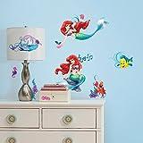 44pc Disney Little Mermaid Wall Sticker Set Glamour Ariel Ocean Princess Decals