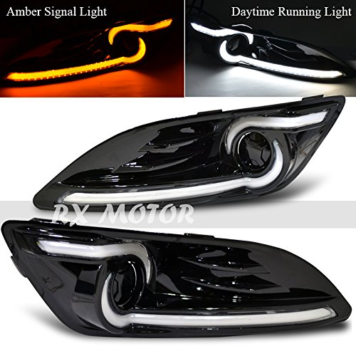 Rxmotor Ford Fiesta Fog Lights Daytime Running Lamps Drl with Signal Amber Light Dual Function 2013-2015 (Nissan Versa Emblem Front compare prices)