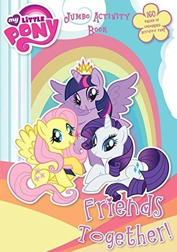my-little-pony-160-page-jumbo-activity-colouring-book-kids-fun-gift-pack
