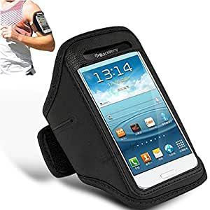 N+ INDIA SAMSUNG GALAXY E7 Adjustable Armband Gym Running Jogging Sports Case Cover Holder With Touch Stylus pen Black