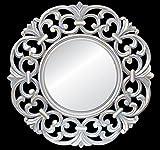 Silver Rippel Wooden wall Jharoka Mirror