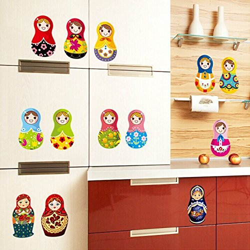 FunnyCraft High Quality Matryoshka Wall Sticker 5.5