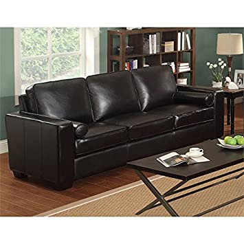 LifeStyle Solutions Siena Leather Sofa in Vintage Mocha