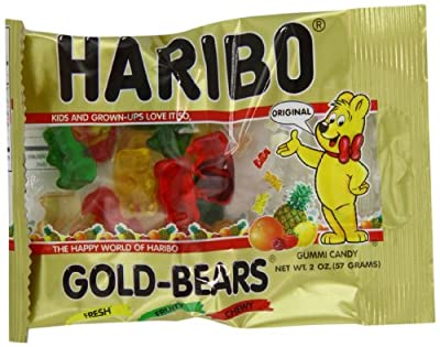 Haribo Gold-Bears, 2-Ounce Packages (Pack of 24) from Haribo