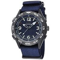 [リコー]RICOH 腕時計 コマンダー・リマインダー 電磁誘導充電式 アナログ表示 バイブレーションアラーム機能 替えベルト付き ブルー 660102-92 メンズ