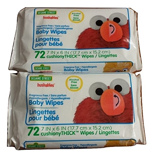Sesame Street Hushables Baby Wipes 72 Count Pack Of 2
