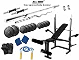 Protoner 64 kg with protoner multy Bench home gym package for fitness weight training