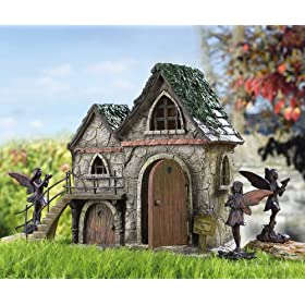 Fairy Toad House Statue by Collections Etc