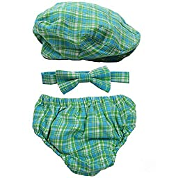 juDanzy baby boys gift box cabbie hat set (3-6 Months, Safari)