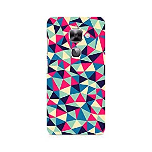 Motivatebox- Colorful Triangles Premium Printed Case For LeEco Le 2 -Matte Polycarbonate 3D Hard case Mobile Cell Phone Protective BACK CASE COVER. Hard Shockproof Scratch-