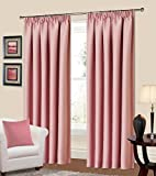 64 x 90 Manhattan Pencil Pleat Thermal Blackout Curtains Baby Pink