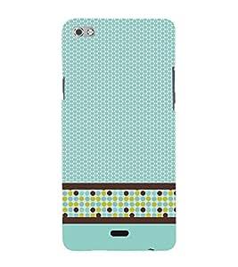 Cellular Pattern Cute Fashion 3D Hard Polycarbonate Designer Back Case Cover for Micromax Canvas Sliver 5 Q450