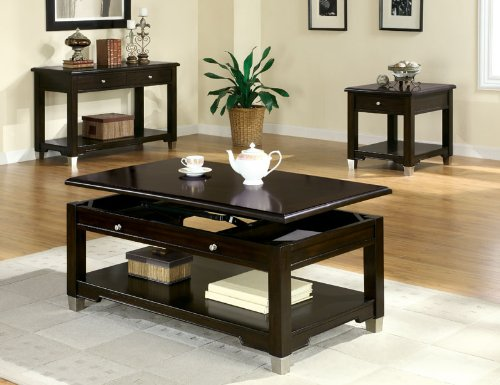 Image of Augusta End Table in Walnut Finish (B003XRA95S)