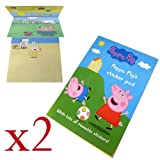 Peppa Pig's Sticker Pad - Fun Scenes with Reusable Stickers (Pack of 2)