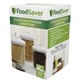 foodsaver 3 piece round bpa free canister set