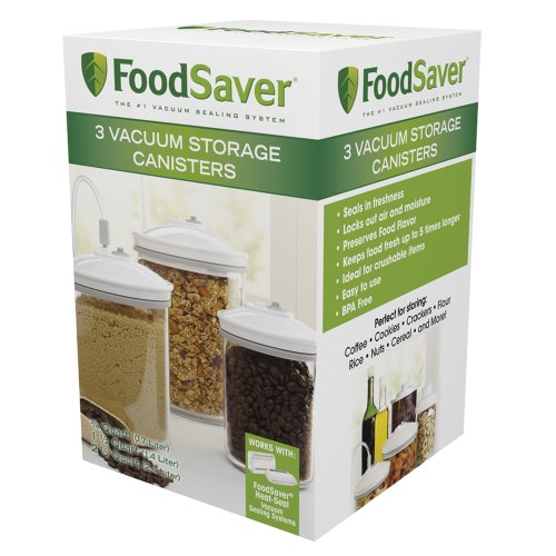 FoodSaver 3 Piece Round, BPA-free Canister Set (Food Containers Vacuum compare prices)