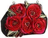 Mary Frances Accessories Love Affair Clutch,Black/Red,one size