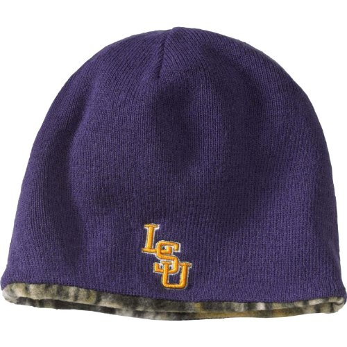 Legendary Whitetails Mossy Oak Reversible College Camo Beanie LSU at Amazon.com