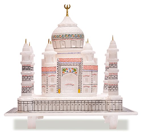 "Valentine's Day Gift TAJ - The symbol of love .Artist Haat 6"" Indian White Marble Handmade Agra Tajmahal Replica Reconstructed Model/Symbol Of Love/Valentine's Gift/taj mahal gift"