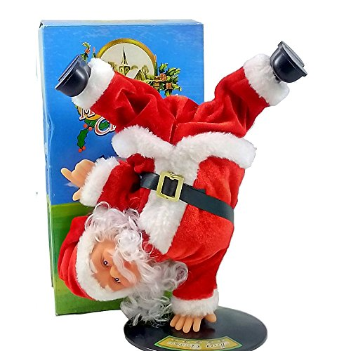 Dancing santa claus animated christmas decoration musical for Animated santa claus decoration