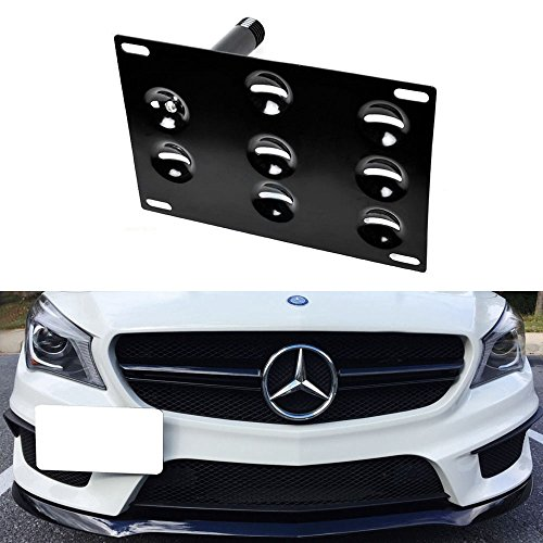 iJDMTOY Front Bumper Tow Hole Adapter License Plate Mounting Bracket For 2014-up Mercedes CLA-Class, GLA-Class (Mercedes Front License Bracket compare prices)
