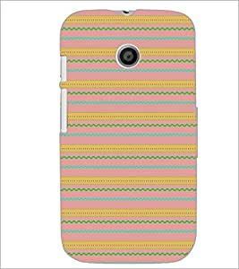 PrintDhaba Pattern D-5151 Back Case Cover for MOTOROLA MOTO E (Multi-Coloured)