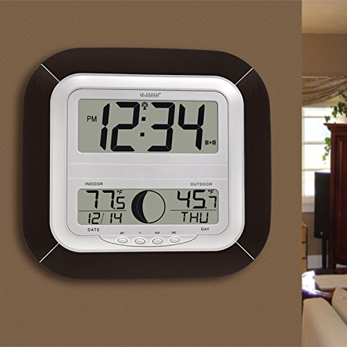 La Crosse Technology Ws 8418u It Atomic Digital Wall Clock