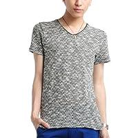 (ベストマート)BestMart スラブ杢 カットソー メンズ Vネック Tシャツ 半袖 607522