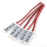 RGB LED コントローラー 調光器  カラフルライト  DC 12V~24V用  3キー  コントローラー ディマー 5本セット