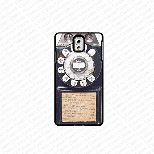 Krezy Case Galaxy Note 4 Case- Black Vintage Pay Phone Samsung Galaxy Note 4 Case- Cute Note Case, Galaxy Note 4 Case