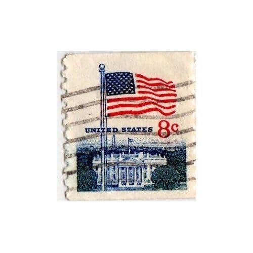 Amazon.com: United States 8 Cent U.s. Flag Stamp 1970-71